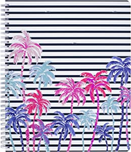 """Lilly Pulitzer Large Hardcover Spiral Notebook, 11"""" x 9.5"""" with 160 College Ruled Pages, Desert Palm"""