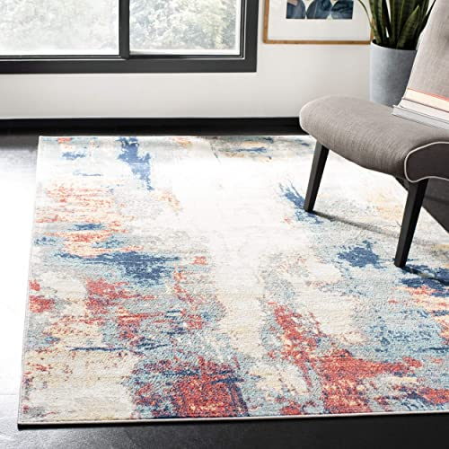 Safavieh JSP101C-9 Jasper Collection JSP101C Grey and Red Area 9 x 12 Rug