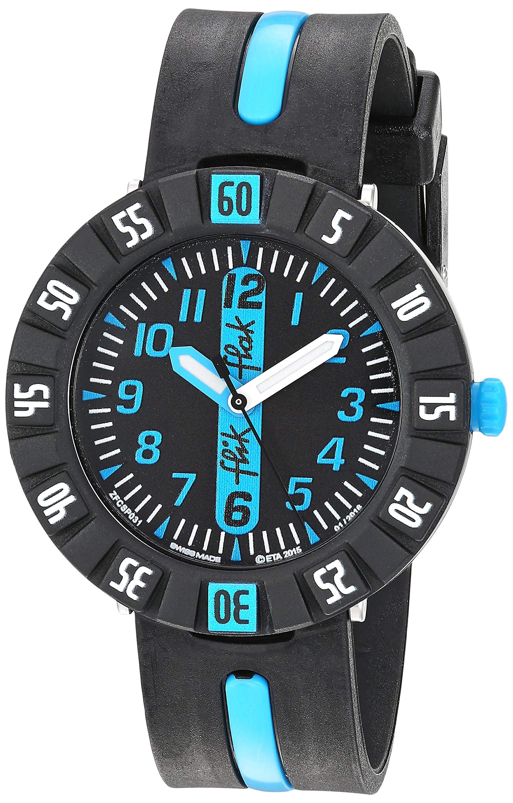 CDM product Flik Flak Kids' Quartz Plastic Strap, Black, 16 Casual Watch (Model: ZFCSP031) big image