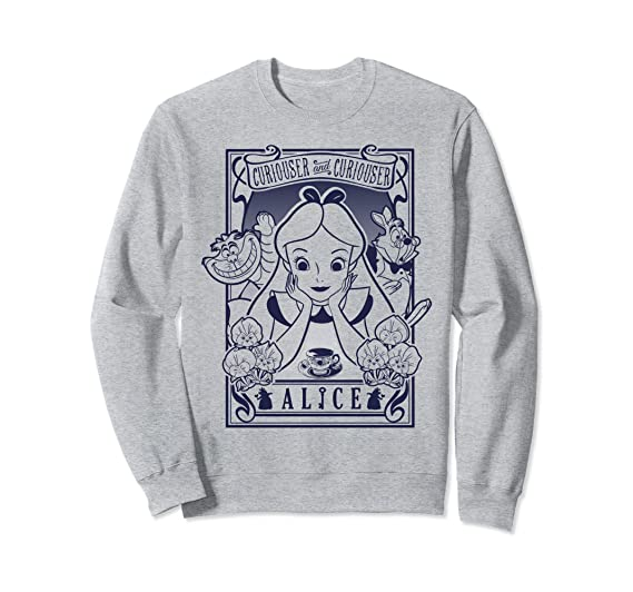 Amazoncom Disney Alice In Wonderland Sweatshirt Clothing