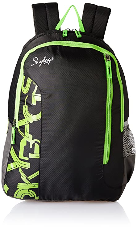 365bb463b8d14 Skybags Polyester Black Casual Backpack (BPBRA11EBLK)  Amazon.in  Bags