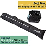 Athletico Two-Piece Ski and Boot Bag Combo