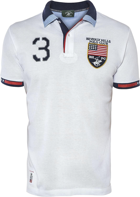 Beverly Hills Polo Club - Camiseta - para Hombre Blanco Blanco X ...