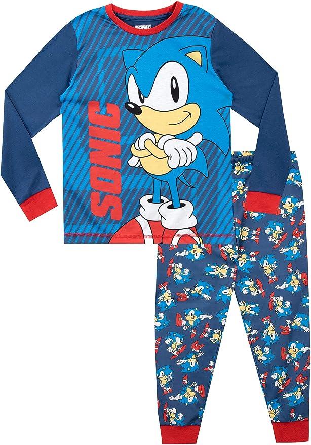 Sonic The Hedgehog Pijamas de Manga Larga para niños Azul 11-12 Años: Amazon.es: Ropa y accesorios