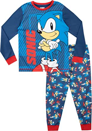 Sonic The Hedgehog Pijamas de Manga Larga para niños