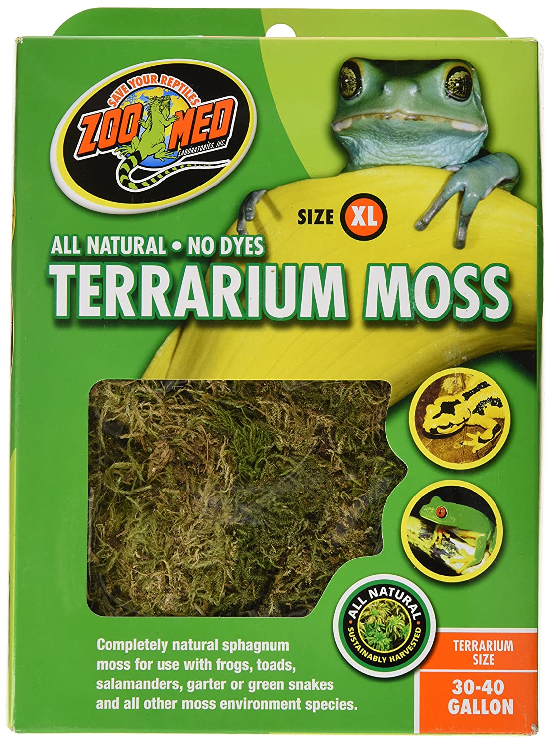 Zoo Med Terrarium Moss 30-40 Gallons Zoo Med Laboratories CF2X