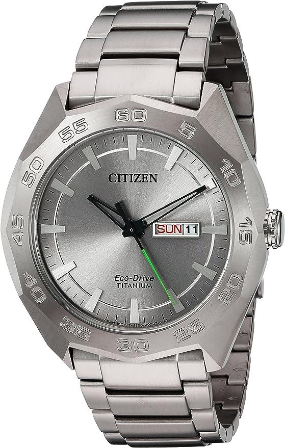 Citizen メンズ腕時計 「スーパー」クオーツチタン カジュアルウォッチ カラー:シルバートーン(モデル:AW0060-54A)
