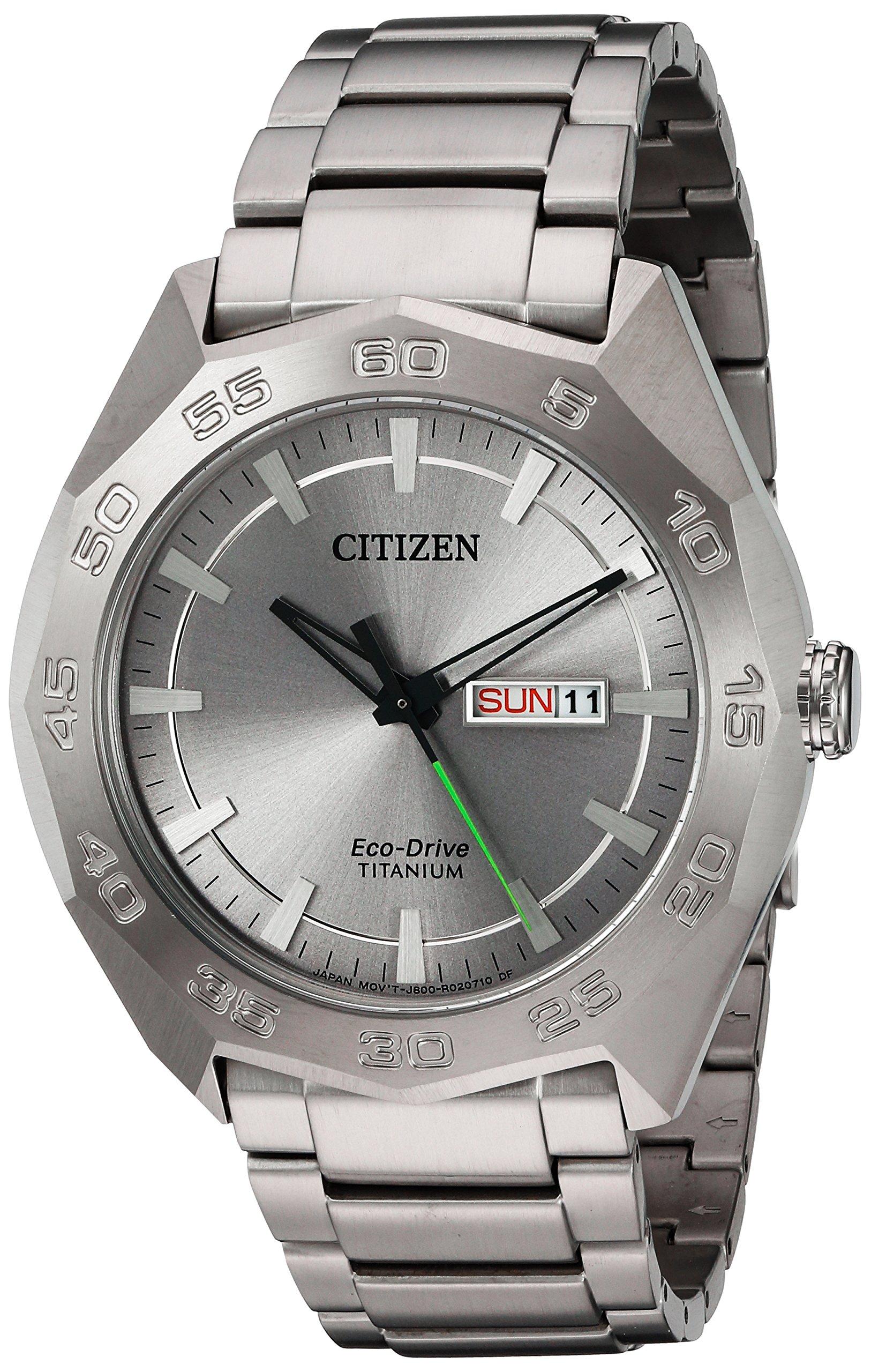 Citizen Men's 'Super' Quartz Titanium Casual Watch, Color:Silver-Toned (Model: AW0060-54A)