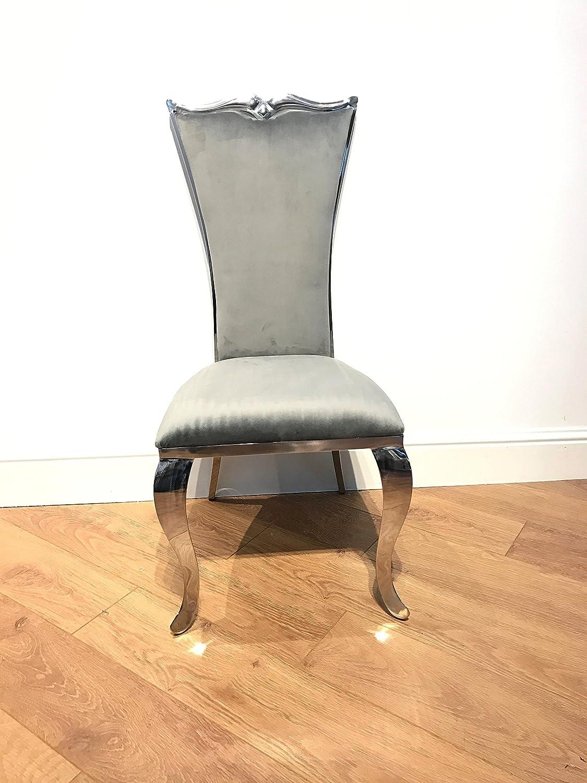 Lujo Italiano Estilo sillas de Comedor (Plata) de Terciopelo ...