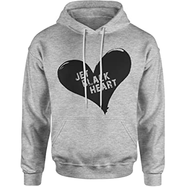35836b5c Amazon.com: Expression Tees Jet Black Heart Unisex Adult Hoodie ...