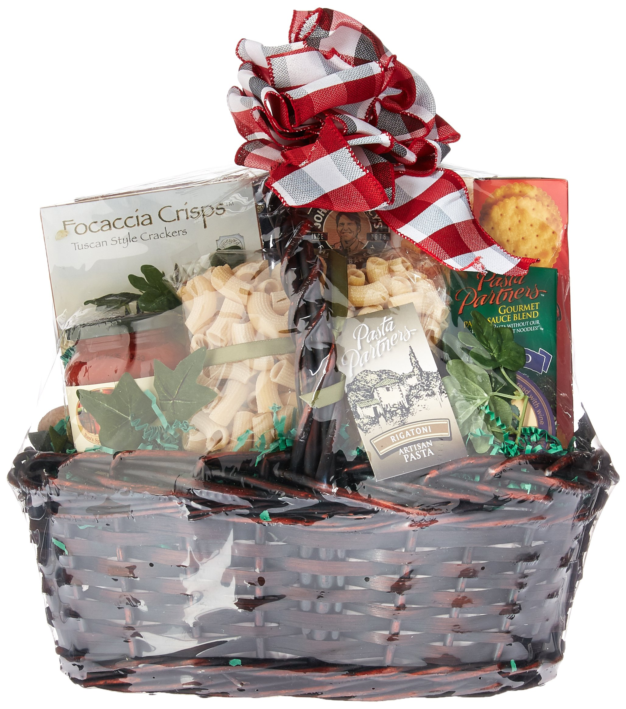 Viva Italiano: Large Italian Gift Basket With Artisan Pastas, A Variety of Sauce Mixes, Wafer Cookies and More, All Paired To Make Complete Italian Dinner, 11 Pounds