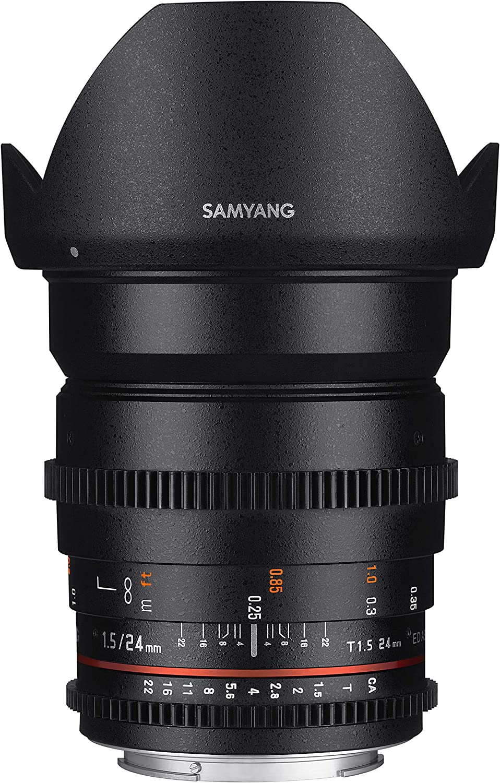 Samyang Cine SYCV24M-NEX 24mm T1.5 Cine Wide Angle Lens for Sony NEX