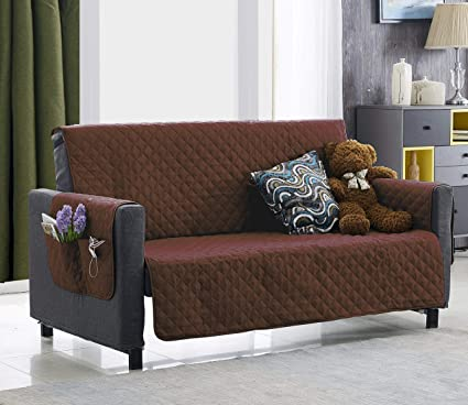 Amazon.com: Argstar Brown Sofa Cover for Dogs, Living Room Protector ...