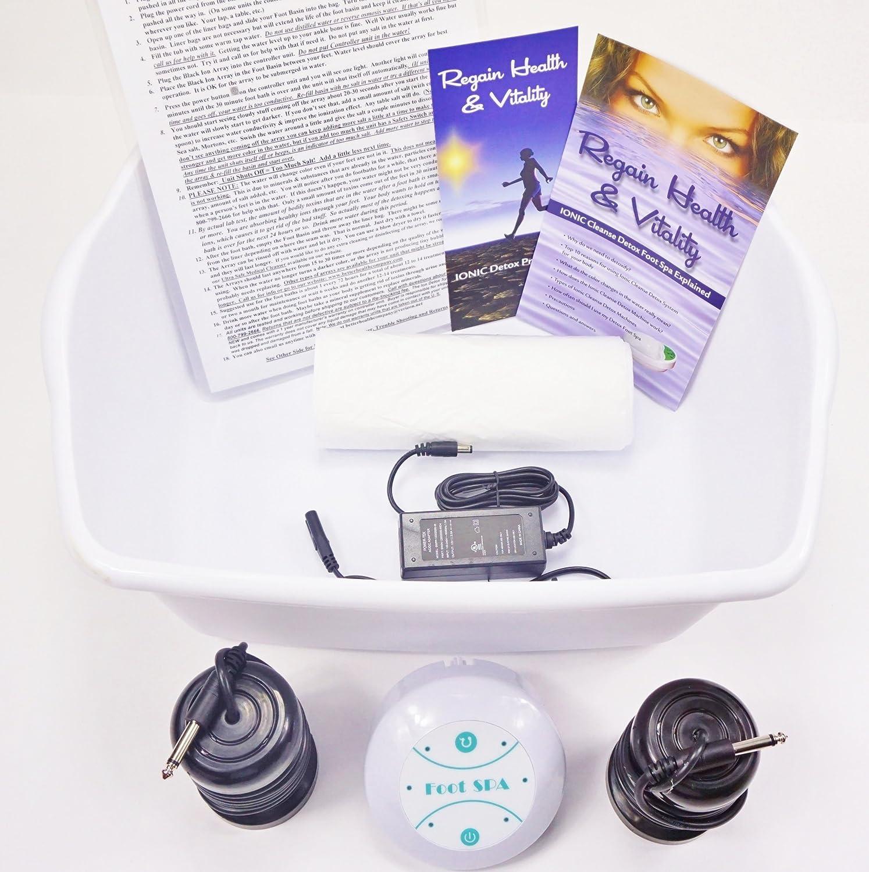 Ionic Foot Cleanse. Detox Foot Bath Machine. Foot Spa Bath for Home Use. Free Regain Health & Vitality Booklet & Brochure! BHC
