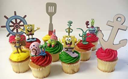Amazon com: Spongebob SquarePants 11 Piece Birthday Cupcake