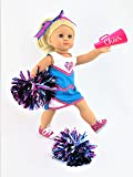 """Cheerleading Outfit with Pom-Poms and a Megaphone 5-pc Set 