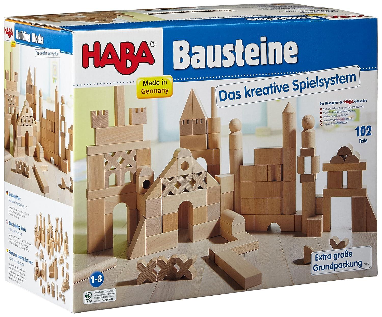 Haba 1077 - Basisbausteine, extra große Grundpackung Kleinkind / Motorikspielzeug