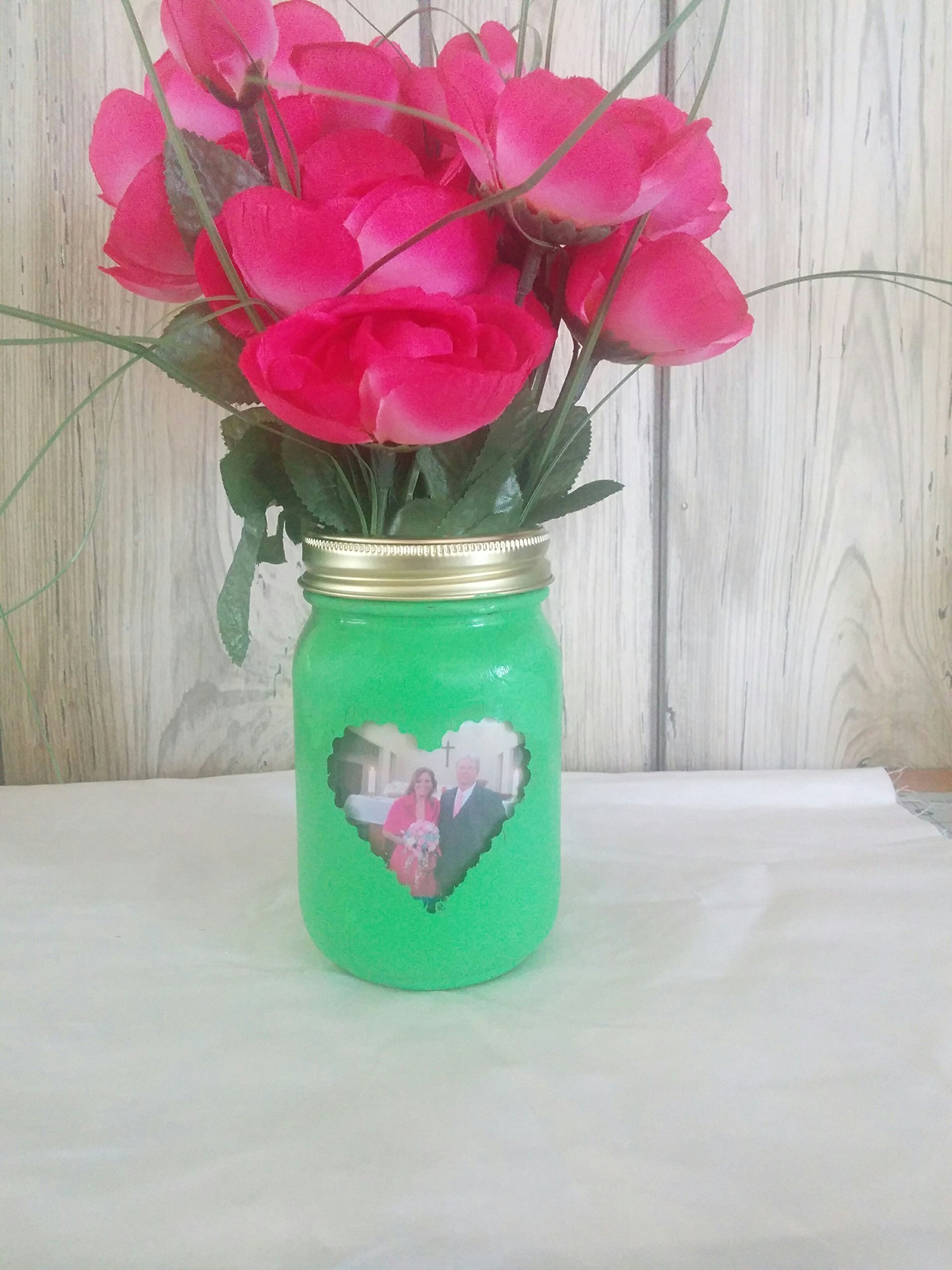 Mason Jar Photo Vases