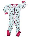 Leveret Owl Footed Pajama Sleeper 100% Cotton 0-3