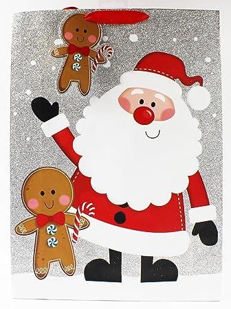 Traditionelle Weihnachtsgeschenke.Merry Christmas Extra Große Geschenktüte Luxus Traditionelle
