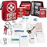 Kit de primeros auxilios profesional de 200 piezas para el hogar, coche o trabajo: además de suministros médicos de…