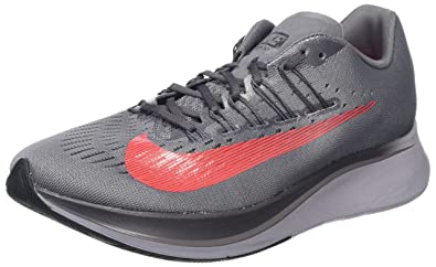NIKE Mens Zoom Fly Running Shoes, (GunsmokeBright CrimsonThunder Grey 004