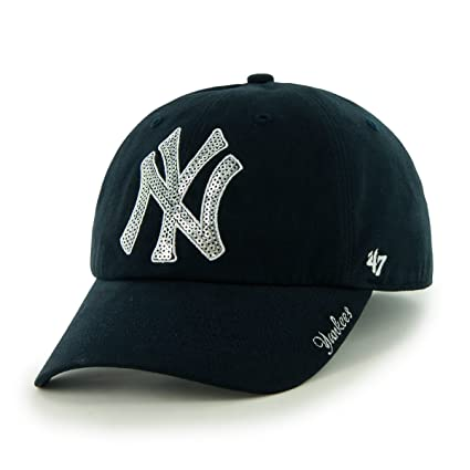 Buy MLB New York Yankees Women s Sparkle Team Color Cap 7e51c69f1