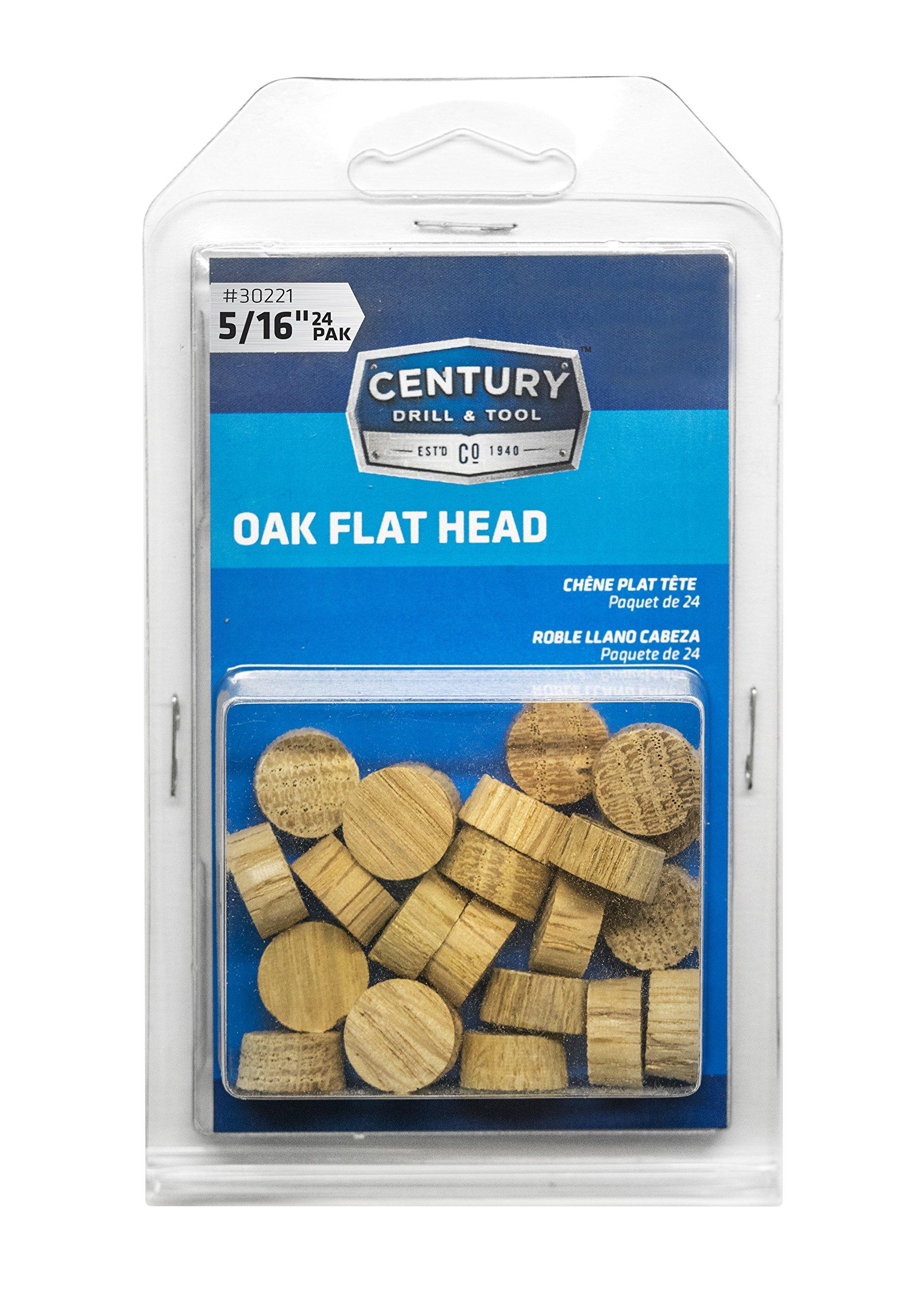Century Drill and Tool 30221 Oak Flat Head Wood Plug, 5/16-Inch