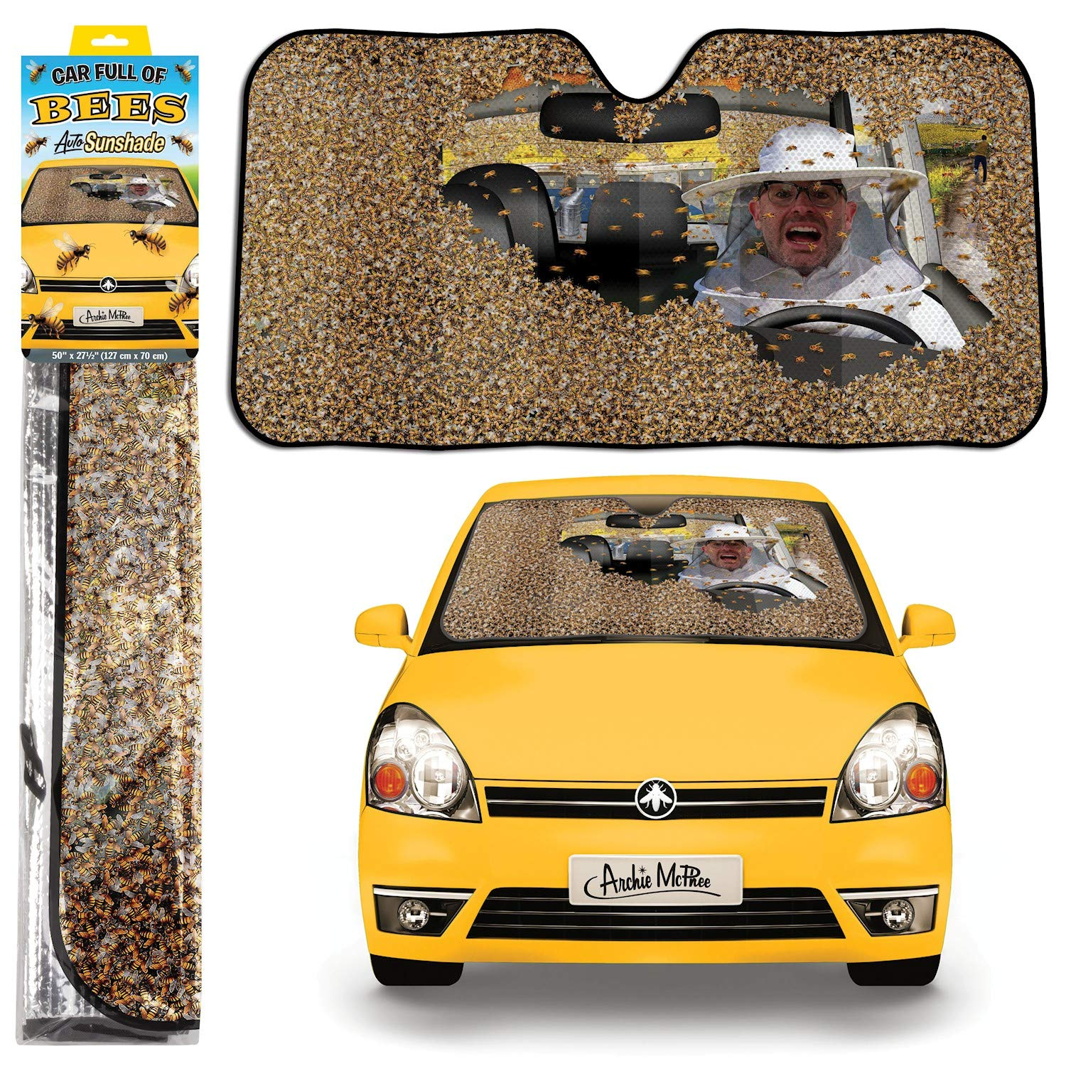 Car Full Of Bees New 12823 Archie McPhee Character Goods Auto Shade