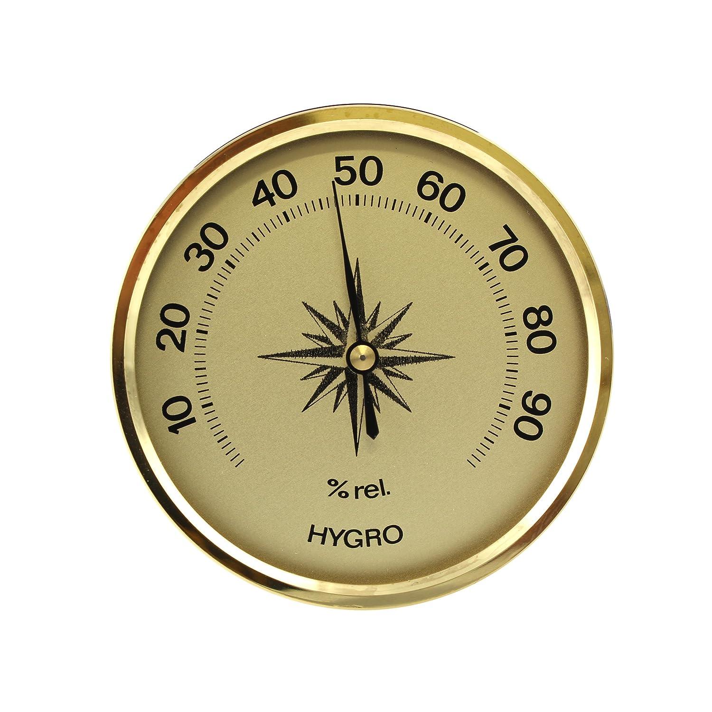Lantelme 2450 Analogue Indoor Outdoor Garden Hygrometer Gold