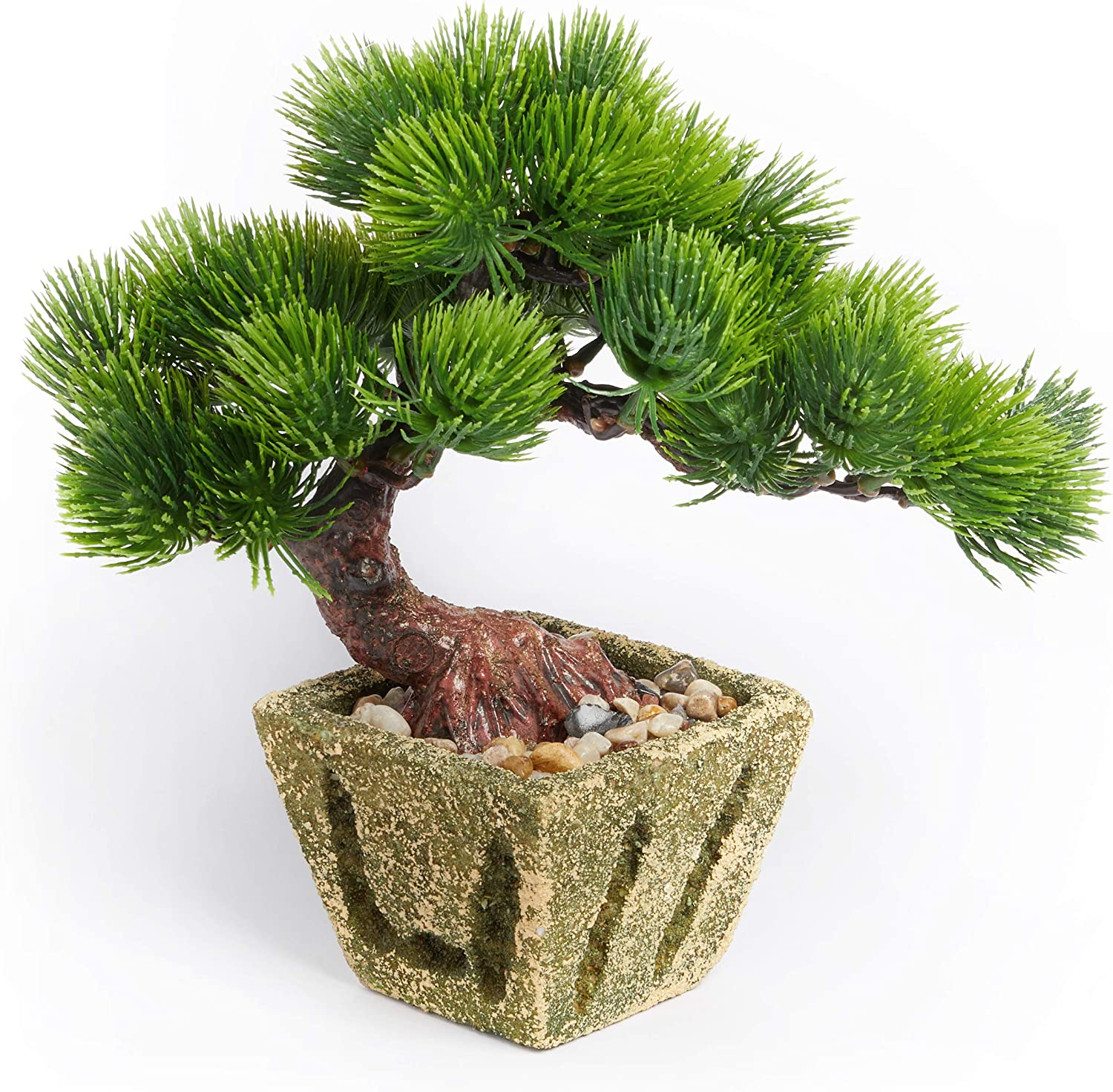 Artificial Bonsai Tree – Small Indoor & Outdoor Artificial Plant Decoration, Japanese Style Bonsai Tree for Home, Office and Garden Décor, by Golden Forest