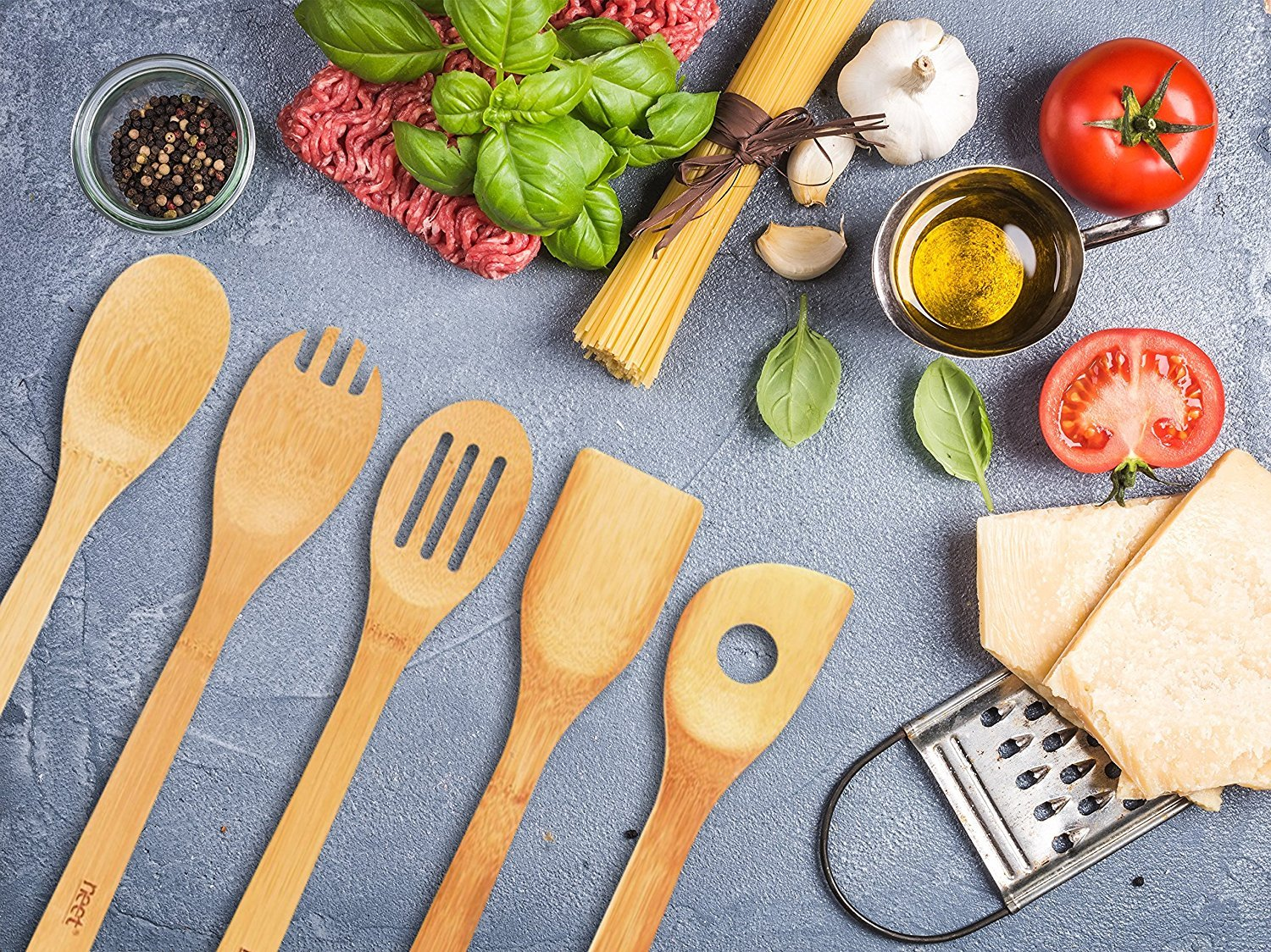 Neet Organic Bamboo Cooking and Serving Utensils