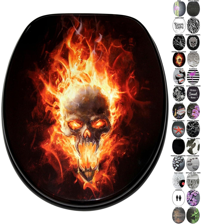 Asiento de inodoro gran selecci/ón de atractivos asientos de inodoro de madera con calidad superior y duradera Brillo negro