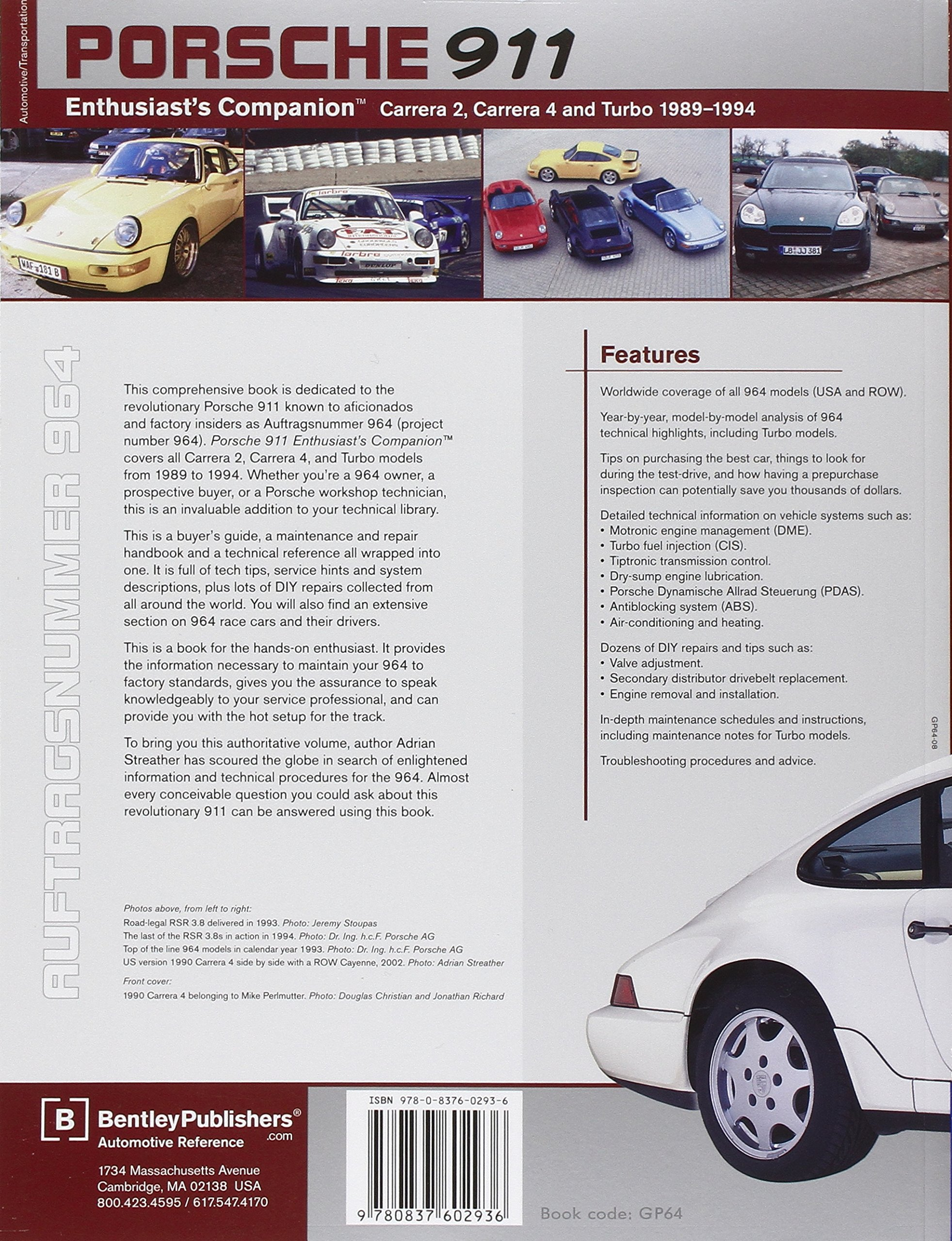 Porsche 911 Enthusiasts Companion: Carrera 2, Carrera 4, and Turbo 1989-1994: Amazon.es: Adrian Streather: Libros en idiomas extranjeros