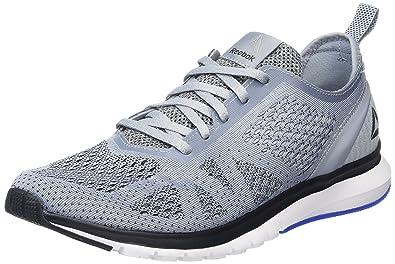 watch bc99c dc10b Reebok Print Smooth Clip Ultraknit, Chaussures de Running Compétition Homme,  Gris (Meteor Grey