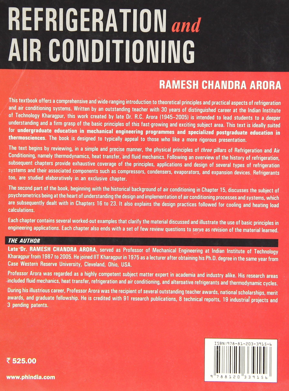 Refrigeration And Air Conditioning Ramesh Chandra Arora Pdf