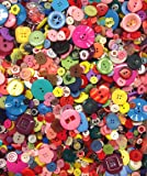 Pack of 250g - SHAPED BUTTONS - Various Sizes and Colours of Various SHAPED SHAPED & PATTERNED Buttons for Sewing and Crafting