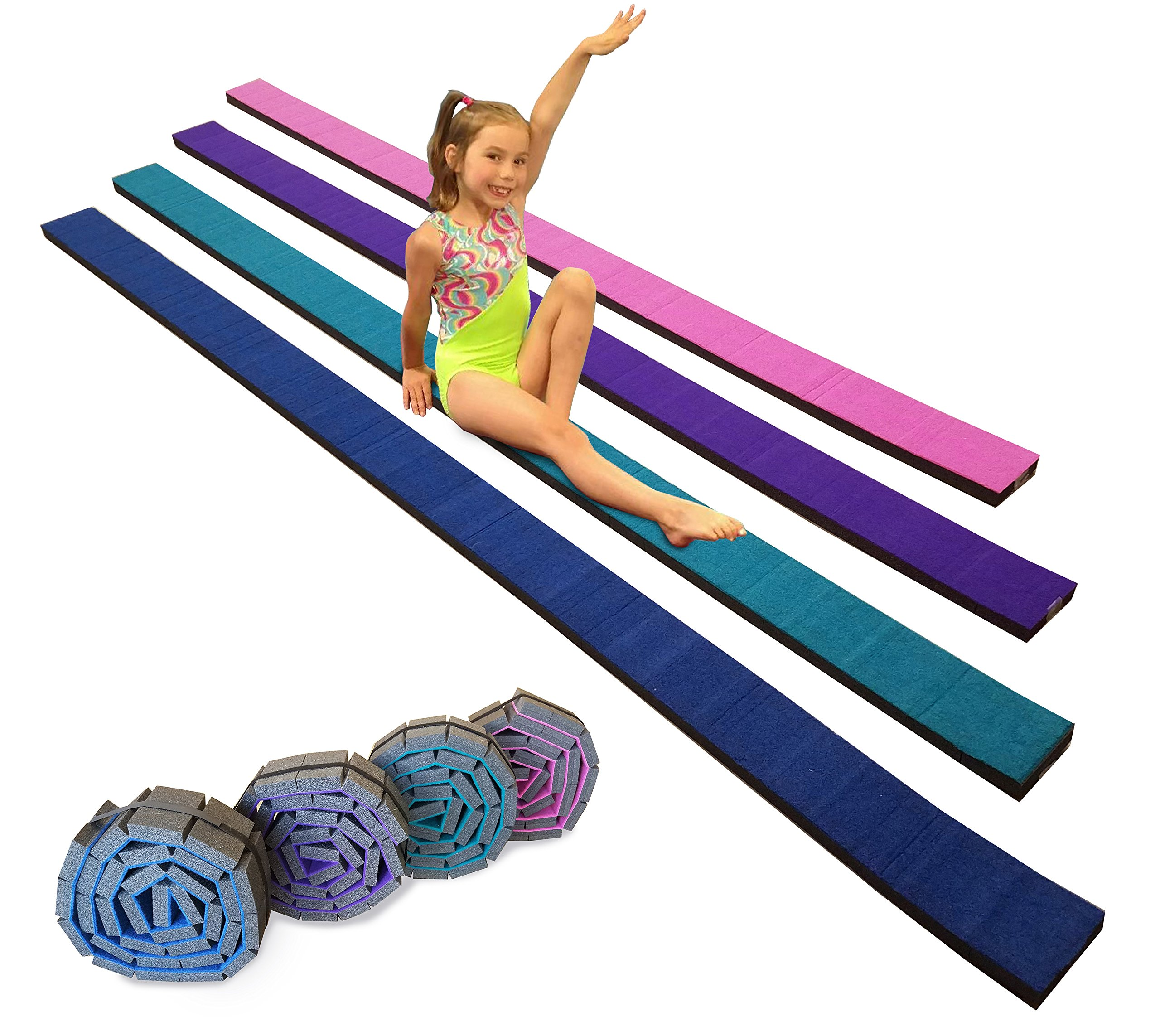 Gymnastics Flexible Roll-Up Foam Training Balance Beam! (Blue) by Team Sports (Image #1)