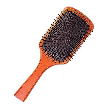 Peine de masaje,Peine de madera de gran tamaño para la salud, para hombres y mujeres, mantenimiento diario del cabello, alisado, alisado