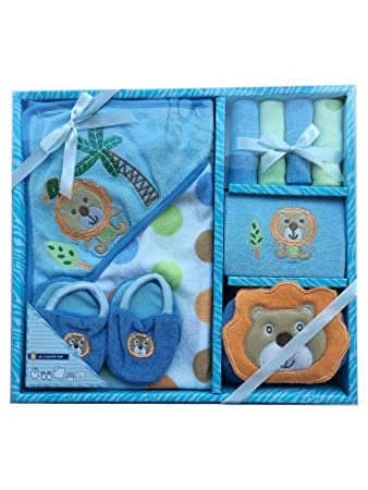 642264c974c8 Amazon.com   Newborn Baby Layette Bath Set - for Baby Boy - Best Baby Gift  Box Set - 8 Pieces - Great for Baby Shower Gift   Baby