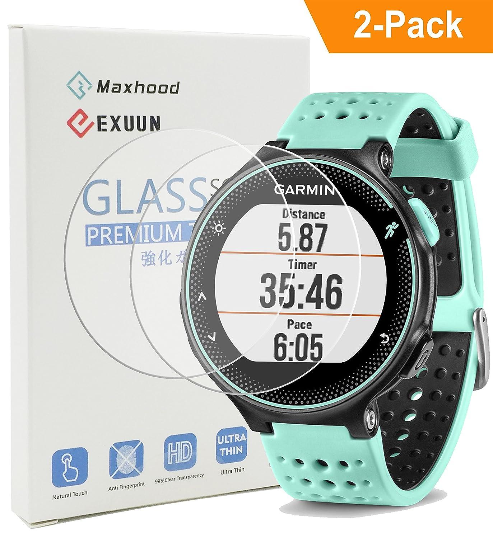 Garmin 620 Damage Forerunner Orange White Pack Screen Protector Glass Exuun Real Premium Watch Tempered 1373x1500