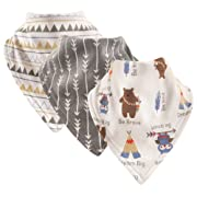 Luvable Friends Basic Cotton Bandana Bib Set,Tribe 3 Pk,One Size