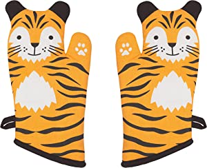 Now Designs 2032006aa Critter Oven Mitt, Set of Two, Tessa Tiger