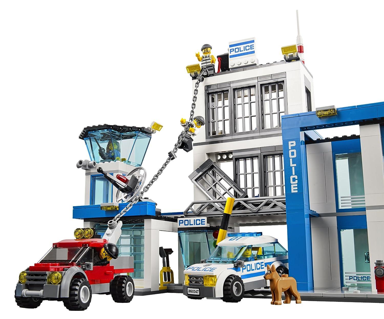 amazoncom lego city police 60047 police station toys games