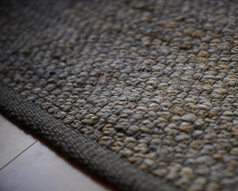 Amazon Anji Mountain AMB1031 0810 Portland Jute Area Rug Gray 8 X 10 Feet Kitchen Dining