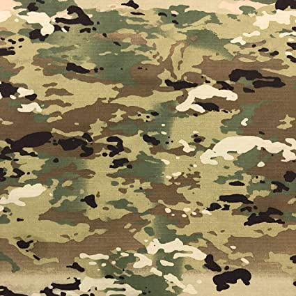 Multicam OCP Camouflage Nylon Cotton Ripstop Fabric, Medium Weight
