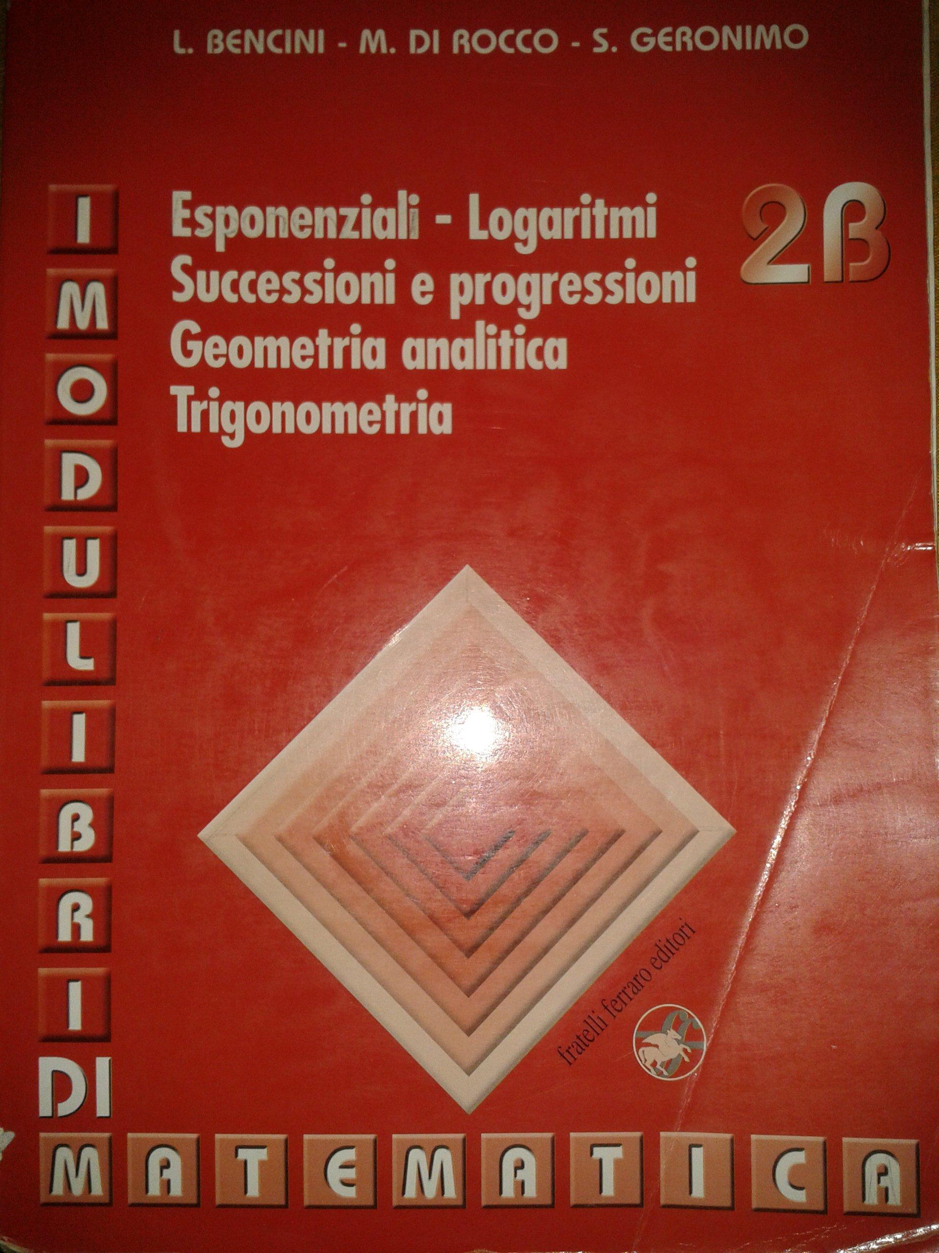 I modulibri di matematica 2B
