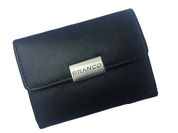 2f9a8bf597562 Kleine Damen Geldbörse Mini Börse Leder Geldbeutel Portemonnaie (schwarz)