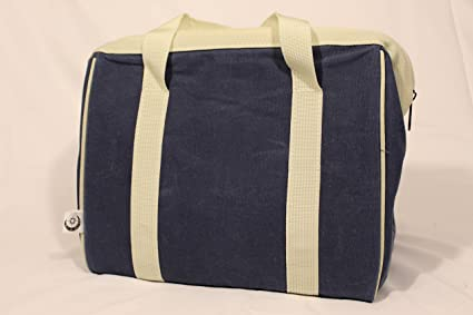 59f47cfe8fca Insulated Waxed Canvas Lunch Tote (Blue)