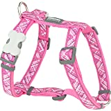 Red Dingo Flanno Design Dog Harness, 15 mm x 30-48 cm, Hot Pink